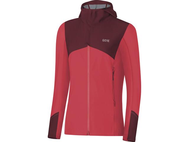 GORE WEAR R3 Windstopper Kurtka do biegania Kobiety czerwony